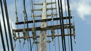 Main electric power lines 7 Stock Footage