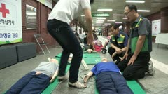 Exercise of CPR Stock Footage