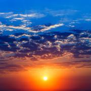 Majestic sunrise Stock Photos