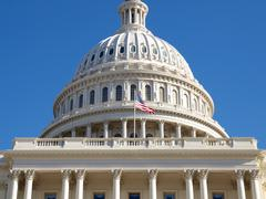 us capitol dome - stock photo