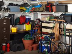 garage stuff - stock photo