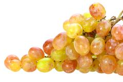Single bunch of yellow grape Stock Photos