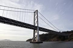bay bridge and treasure island - stock photo
