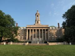penn state old main - stock photo