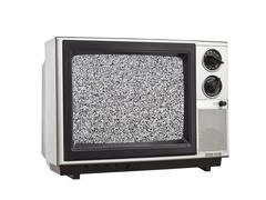 Vintage televisio staattisen eristetty Kuvituskuvat