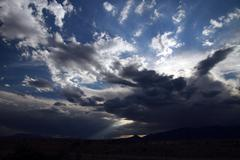STORM CLOUDS PIKES PEAK - stock photo