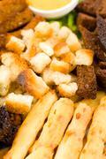 Various crusts, macro Stock Photos
