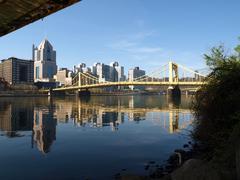Pittsburgh siltoja ja Ohiojoelle Kuvituskuvat