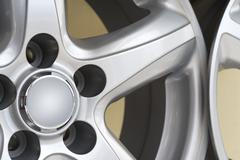 car rims - stock photo