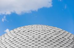 tiled cupola - stock photo