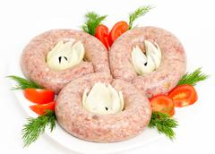 sausages - prepared food - stock photo