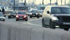 Flow of traffic in the city - stock footage
