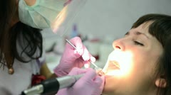 Cleaning of dental raid - stock footage
