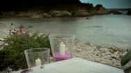Romantic wedding ceremony on a beach in Sicily Stock Footage