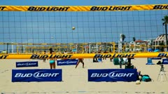 Beach Volleyball Stock Footage