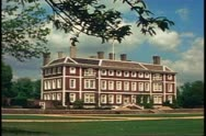 Country Houses of England, Ham House, wide shot, front Stock Footage