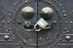 Doorknob locked Stock Photos