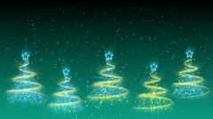 Christmas Trees Background - Merry Christmas 38 (HD) Stock Footage