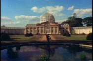 Stock Video Footage of Country Houses of England, Syon House, wide shot conservatory dome