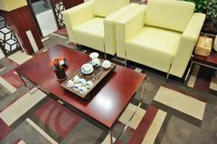 sofa and teatable - stock photo