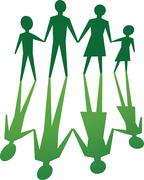 family with environmental value - stock illustration