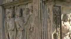 Italy - Campania - Benevento - Arch of Trajan Stock Footage