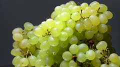 White grapes close-up shot. (Rotating) Stock Footage