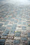 flag stone path - stock photo