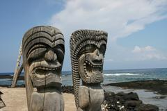Artifacts on the Big Island of Hawaii - stock photo
