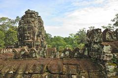 bayon temple, angkor,  cambodia - stock photo