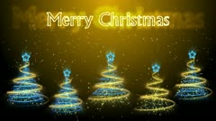 Christmas Trees Background - Merry Christmas 48 (HD) Stock Footage