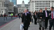 Commuters in City of London Stock Footage