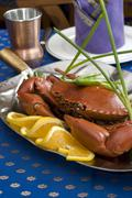 Crab dinner Stock Photos
