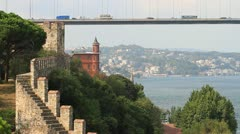 Rumelian Castle and Perili Kosk, Istanbul Stock Footage