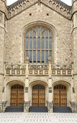 Medieval gothic styled doors Stock Photos