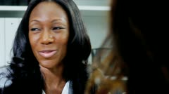 Close up of African American ambitious female managing business partners   - stock footage