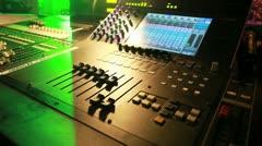 Sound Mixer record Stock Footage