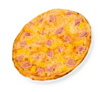 Pizza with ham and pineapple Stock Photos