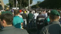 Rome demonstration, anti-islamic film, Innocence of Muslims (11) Stock Footage