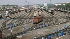 Railway cargo - stock footage