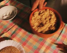 FOOD cooking spelt with tomato soup Stock Footage