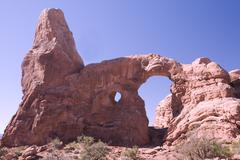 Turret Arch in Arches National Park Utah Stock Photos