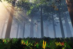 Deep Forest - stock illustration