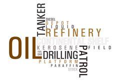 Oil wordcloud Stock Photos