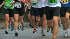 Legs  of people Running marathon  in Holland Stock Footage