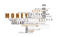 Money wordcloud Stock Photos