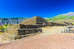 the pyramids of güímar , tenerife, canary islands, spain - stock photo