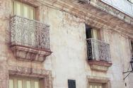 Stock Photo of old colonial houses in havana