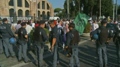 Rome demonstration, anti islamic film, Innocence of Muslims (8) Stock Footage