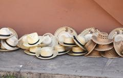 Straw hats Stock Photos